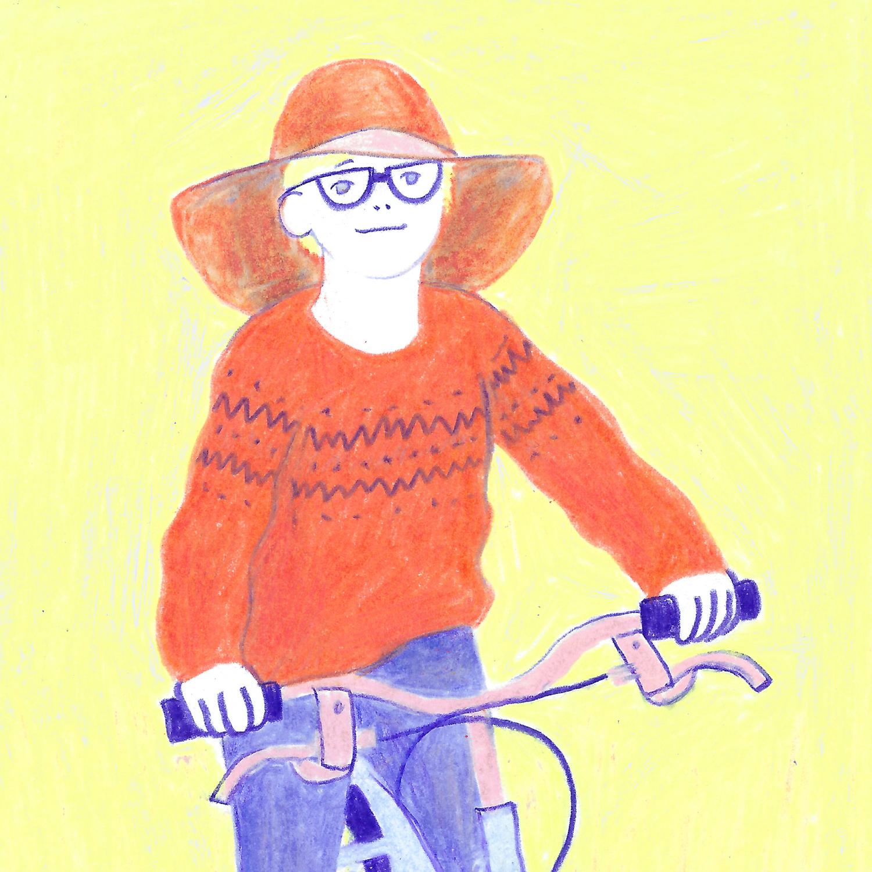 Biker - Colored pencils