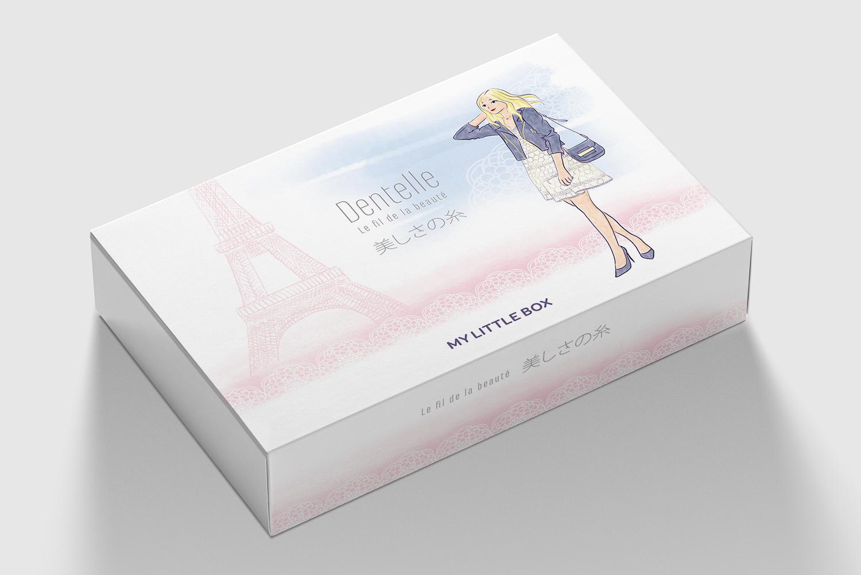 Photorealistic Flat Rectangle Cardboard Package Box Mockup on li